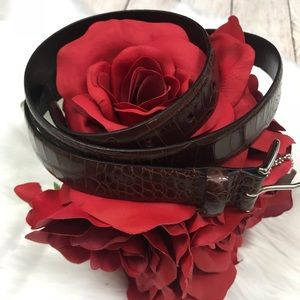 Coach Brown Leather Belt - 0011